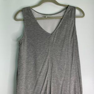 Search for Sanity Grey and White Women's Tank